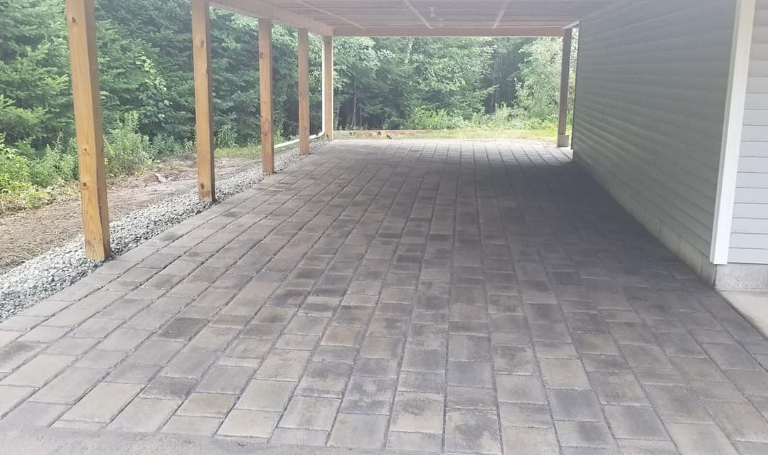 Carport Built With 840 Brick Pavers