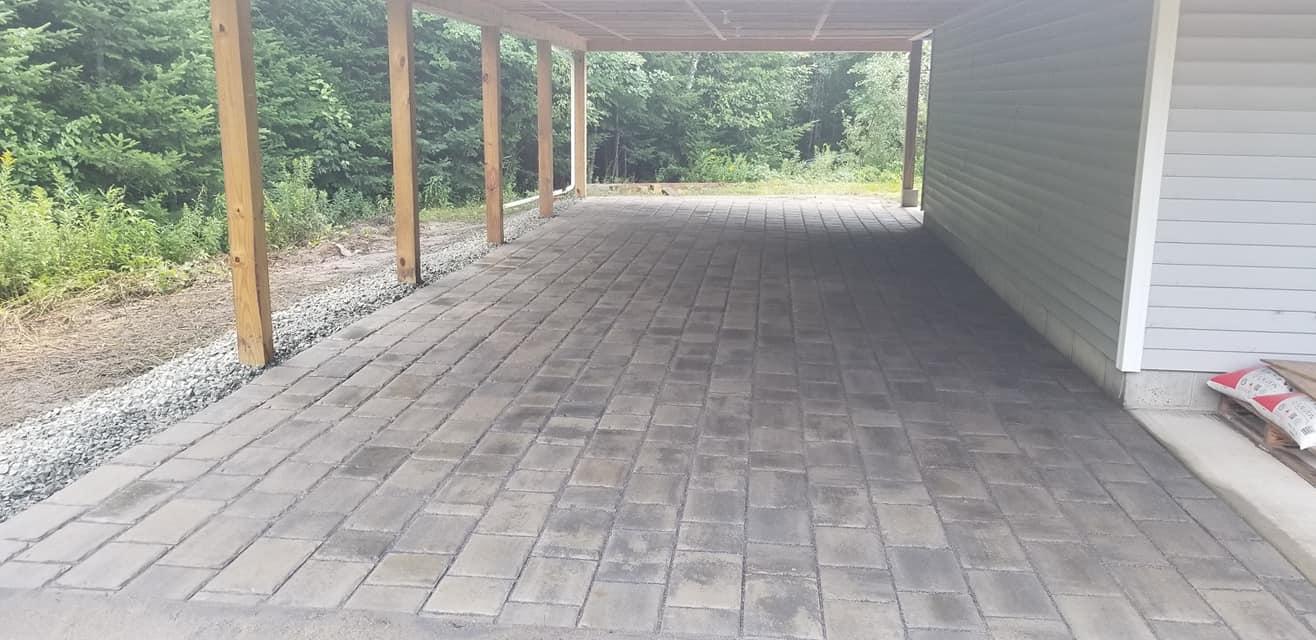 Four Seasons Landscaping NH Leo Enos hardscape brick paver carport NH commercial hardscaping construction