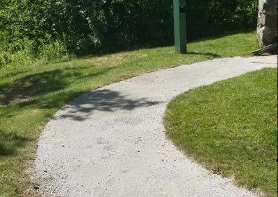 gravel path Four Seasons Landscaping Leo J Enos hardscape hardpack walkway Weeks State Park Lancaster NH