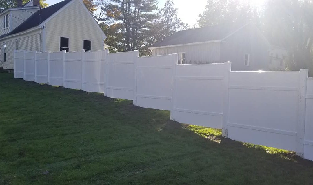 Residential Fence Installation White Fence