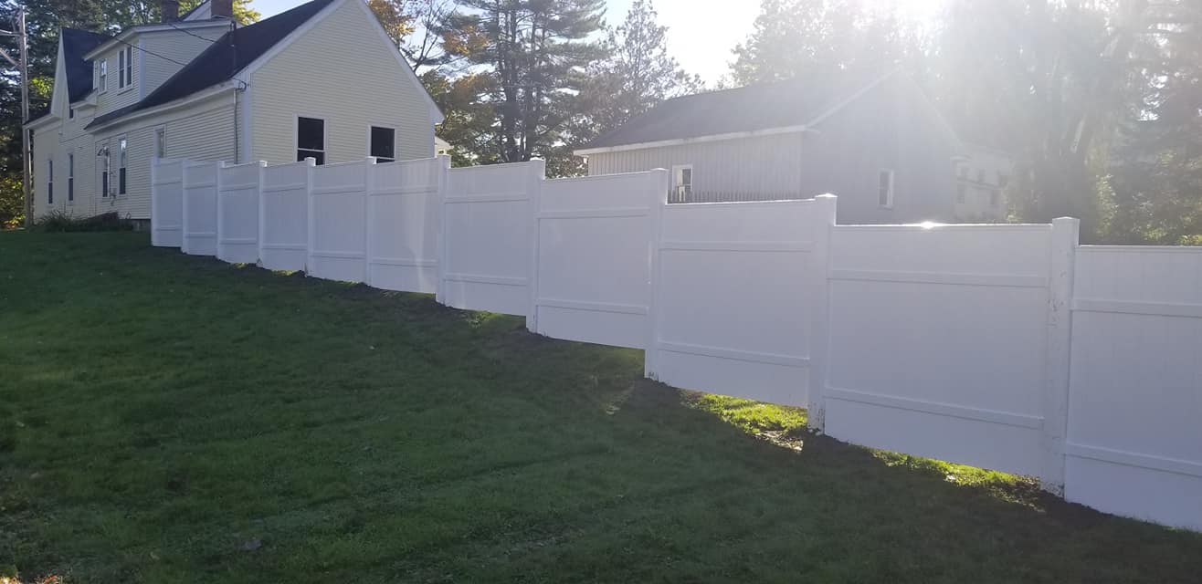 Four Seasons Landscaping NH VT ME Leo J Enos hardscaping home Littleton New Hampshire Vermont Maine residential hardscape fence house home