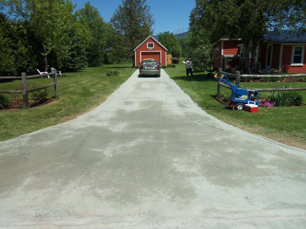 Four Seasons Landscaping NH Leo Enos Lancaster NH residential hardscape driveway