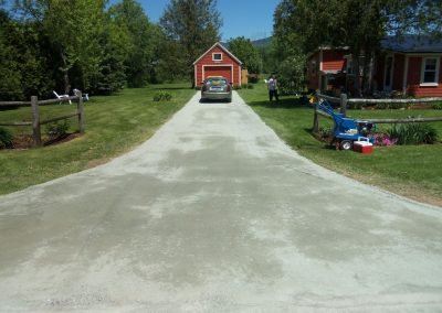 North Road Driveway completed