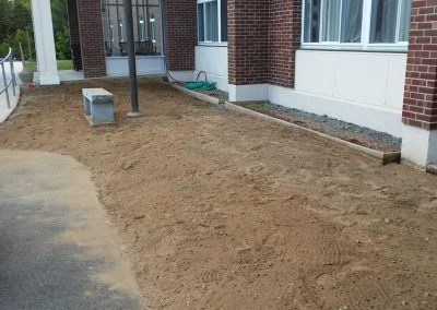 Coos County Nursing Home Berlin NH landscaping before we added the plants and mulch