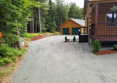 Four Seasons Landscaping NH Leo Enos hardscape ledgepack driveway Twin Mountain NH residential hardscaping construction