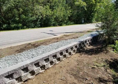 Four Seasons Landscaping NH Leo Enos Country Village Nursing Home Lancaster NH commercial hardscaping retaining wall